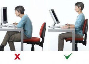 posição sentada