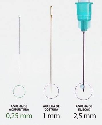 agulhas acupuntura finas